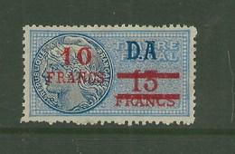 FISCAUX FRANCE SERIE UNIFIEE N°283 10 F Sur 13F Bleu DA - Revenue Stamps