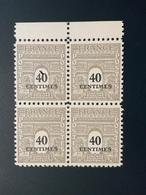 1945 NEUF Bloc De 4 Timbres Arc De Trimphe 40 C YT 703 - 1944-45 Arc De Triomphe