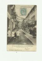 85 - FONTENAY LE COMTE - Concours Musical 14 - 15 Aout 1904 La Rue Des Loges Trés Animé Coins Arrondis Sinon Bon - Fontenay Le Comte