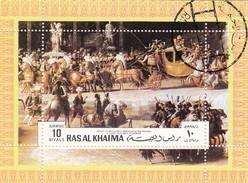RAS AL-KAIMA  - BLOC ARRIVEE DE NAPOLEON  ET MARIE LOUISE AUX TUILERIES   /6515 - Ra's Al-Chaima