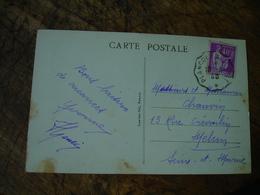 Plancoet A Saint Cast Cachet Poste Ferroviaire Ambulant - Postmark Collection (Covers)