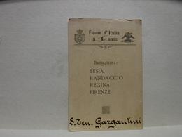 TESSERA  ---  FIUME  -- ISTRIA --  BATTAGLIONI  -- SESIA  ,RANDACCIO.REGINA,FIRENZE - MENU' -- 1919 - Vieux Papiers