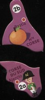 MAGNET HAUT CORSE BASTIA CORSE DU SUD AJACCIO N° 2B 2A - Magnets