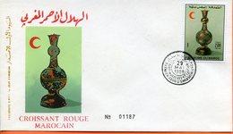 "Maroc;FDC 1er Jour ; 1989; TP N°1066 "" Croissant Rouge Marocain ""Morocco;Marruecos - Morocco (1956-...)"
