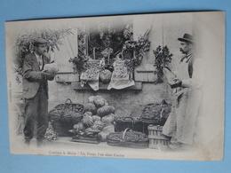 """CREUSE -- Marchand Fruits & Légumes - """"Combien Le Melon ? Un Franc L'un Dans L'autre """" - Cpa """"précurseur"""" 1903 - RARE !! - Shopkeepers"""