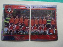 PANINI FOOT 2002 F.C.Lorient Bretagne Sud N°134 & 135 - Französische Ausgabe