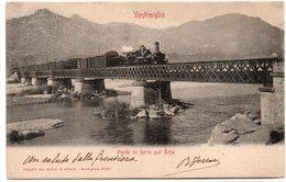 VENTIMIGLIA - PONTE IN FERRO SUL ROJA - Treno - IMPERIA - VIAGGIATA - Imperia