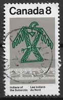 Canada 1975. Scott #577 (U) Subarctic Indians, Ojibwa Thunderbird And Naskapi Patern - 1952-.... Reign Of Elizabeth II