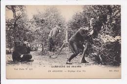 CP MILITARIA Campagne De 1914 1916 En Argonne Réglage D'un Tir - War 1914-18