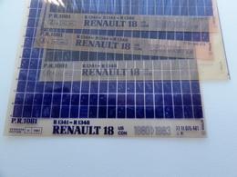Microfiche Renault 18 Usa-canada  1980>1983  Berline  Pr1081 Lot De 4  1341-44-48 - Visionneuses Stéréoscopiques