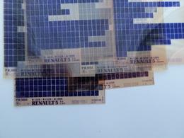 Microfiche Renault 5 Usa-canada  1976>1984   Pr1011 Lot De 6  1228-29-1399 Lot De 6 - Visionneuses Stéréoscopiques