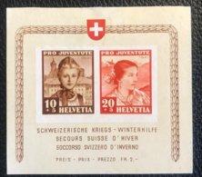 Schweiz Pro Juventute 1941 Block Zumstein-Nr. 98I+99I * Ungebraucht - Pro Juventute