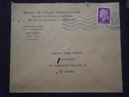 FRANCE MARIANNE CHEFFER 1536 ENVELOPPE LETTRE LETTER COVER PLI GREVE GREVES POSTALE EVENEMENT 1968 AMIENS SOMME - Marcophilie (Lettres)