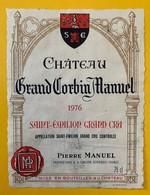 12480 - Château Grand Corbin Manuel 1976 Saint-Emilion - Bordeaux