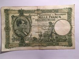 1000-Francs-of-200-belgas-du-6-mai-1933-Belgique-Belgie-bankbiljet-TB Pointez Sur L'image Pour Zoomer      1000-Francs- - [ 2] 1831-... : Koninkrijk België