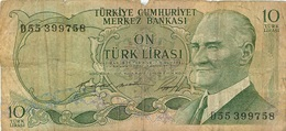 10 LIRES LIRASI SERIE D  TURQUIE - Turquia
