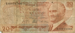 20 LIRES LIRASI SERIE B  TURQUIE - Turkey