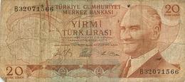 20 LIRES LIRASI SERIE B  TURQUIE - Turquia