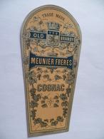 Ancienne étiquette COGNAC OLD BRANDY MEUNIER FRERES - Whisky