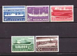 Nederland - Niederlande - Pays Bas NVPH 688 T/m 692 MH * (1957) - Nuevos