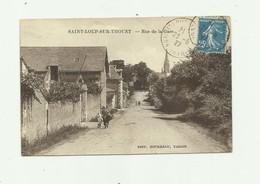 79 - SAINT LOUP SUR THOUET - Rue De La Gare Animé Petit Arrachage Papier Dos Sinon Trés Bon - France