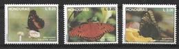 HONDURAS 1992 BUTTERFLIES  MNH - Butterflies