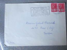 Lettre Pour La Suisse Avec Belle Flammes International Médecins Par Avion - 1971-76 Marianne (Béquet)