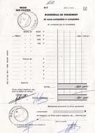 Bordereau De Versement Régie Des Postes Huy 1 Bureau De Ben-Ahin 11/02/91 - Documents Of Postal Services