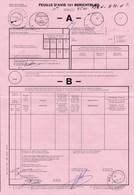 Feuille D'Avis Régie Des Postes Huy 1  Bureau De Ben-Ahin 26/02/91 Double Cercle - Documents Of Postal Services