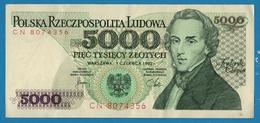 POLAND 5.000 Złotych 01.06.1982# CN80743561989 P# 150a Chopin - Pologne