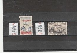 MAROC**LUXE N° PA 56 ET 57 COTE 3.55 - Maroc (1891-1956)