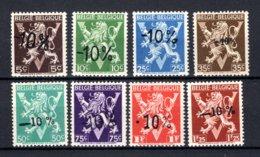 724oo/724vv MNH** 1946 - Heraldieke Leeuw België - Belgique - 1946 -10%