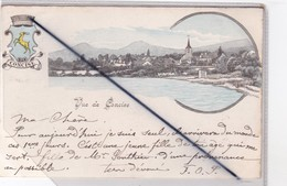 Suisse - Vue De Concise - Vue Générale / Blason (carte Précurseur De 1900) - VD Vaud