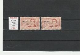 SENEGAL**LUXE N° 196/197 COTE 7.70 - Senegal (1887-1944)