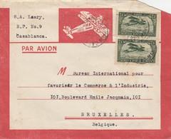 LETTRE. MAROC. 19 11 24. CASABLANCA POUR BRUXELLES BELGIQUE  / 2 - Maroc (1891-1956)
