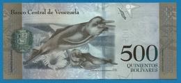 VENEZUELA 500 Bolivares 23.03.2017#H00410585  P# 94bAmazon River Dolphins - Venezuela