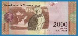 VENEZUELA 2000 Bolivares   18.08.2016# C55805885 P# 96Harpy Eagle - Venezuela