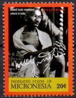 MICRONESIA MNH** - Neuf Mint - Mahatma Ghandi - Gandhi - India - Celebrities Non Violence - Mahatma Gandhi