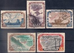 Russia 1951, Michel Nr 1601-05, Used - Usati