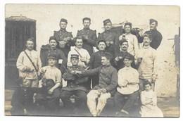 40-MONT-DE-MARSAN-CARTE PHOTO-Groupe De Militaires Du 34e Régiment...1911  Animé - Mont De Marsan