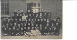Londerzeel, Gemeenteschool, Hartelijk Dank 1914-1915 Vlag U.S.A. Fotokaart - Londerzeel