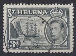 ST. HELENA.....KING GEORGE VI,(1936-52).....3d......SG135a.......CDS,.....VFU... - Saint Helena Island