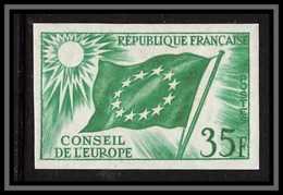 France Service N°20 Conseil De L'europe Europa Drapeau Flag Essai Proof Non Dentelé Imperf ** Mnh - Probedrucke