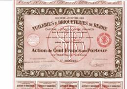 13-TUILERIES & BRIQUETERIES DE BERRE.  ...  MARSEILLE - Azioni & Titoli