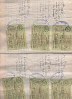 Dans Un Cahier 20*27, 48 Pages Avec Vignettes Comptabilité VIANDES, Pour Transport, Boucherie RACINE VALDOIE Entre 4/01/ - Alimentaire