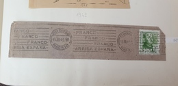 1949 Spain Espana Used Cancel Cancellation Postmark - 1931-50 Storia Postale