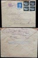 S8397 - DR 2 PLZ Stempel Auf SS Polizei Briefumschlag: Gebraucht Landpost 10 Ponickau über Grosshain - Chemnitz 1944 - Germany