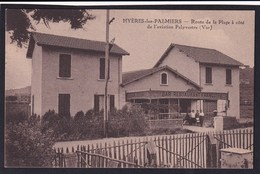 HYERES LES PALMIERS ( 83  Var ) - Route De La Plage à Côté De L'aviation Palyvestre ( Rue Restaurant François - TTB Etat - Hyeres