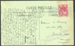 PAYS-BAS N°51 - 5 Cent. Rose Obl. Mécanique ROTTERDAM Sur Carte Du 25-IX-1914 Vers Bruxelles-Nord + Griffe Violette Ache - WW I