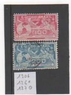BRESIL 1906 YT N° 126*-127 Oblitéré - Brésil